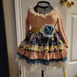 Mustard pie baby girl dress size 12months